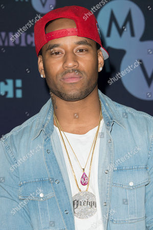 P. Reign poses in the press room at the Much Music Video Awards, in Toronto, Canada