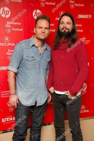 "Composers Danny Bensi and Saunder Jurriaans attend the premiere of ""Nasty Baby"" during the 2015 Sundance Film Festival, in Park City, Utah"