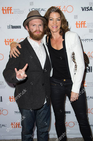 "Henry Zebrowski, left, and Rya Kihlstedt attend a premiere for ""Heroes Reborn"" on day 6 of the Toronto International Film Festival at The Winter Garden Theatre, in Toronto"