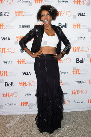 """Judith Shekoni attends a premiere for """"Heroes Reborn"""" on day 6 of the Toronto International Film Festival at The Winter Garden Theatre, in Toronto"""