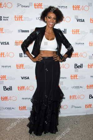 "Judith Shekoni attends a premiere for ""Heroes Reborn"" on day 6 of the Toronto International Film Festival at The Winter Garden Theatre, in Toronto"