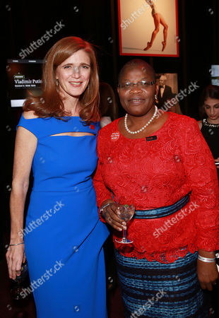 Samantha Power and Obiageli Ezekwesili attends the 2015 TIME 100 Gala cocktail reception, to celebrate the 100 most influential people in the world, at the Frederick P. Rose Hall, Time Warner Center, in New York