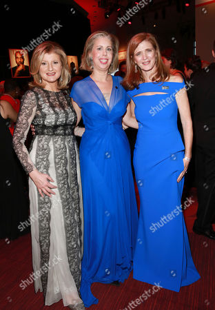 Arianna Huffington, Nancy Gibbs and Samantha Power attend the 2015 TIME 100 Gala cocktail reception, to celebrate the 100 most influential people in the world, at the Frederick P. Rose Hall, Time Warner Center, in New York