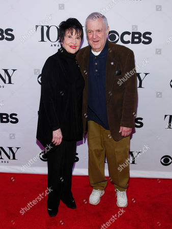 Stock Image of Chita Rivera, left, and John Kander, right, attend the 2015 Tony Awards Meet The Nominees Press Junket at The Paramount Hotel, in New York