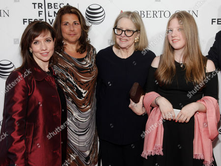 "Domenica Cameron-Scorsese, from left, Cathy Scorsese, Helen Morris and Francesca Scorsese attend a Tribeca Film Festival closing night special screening of ""Goodfellas"" at the Beacon Theater, in New York"