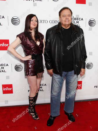 """Dee Dee Benkie, left, and Paul Sorvino, right, attend a Tribeca Film Festival closing night special screening of """"Goodfellas"""" at the Beacon Theater, in New York"""