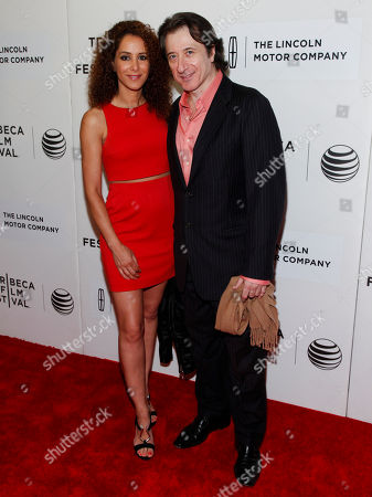 "Yvonne Maria Schaefer, left, and Federico Castelluccio, right, attend the Tribeca Film Festival world premiere of ""The Wannabe"", in New York"