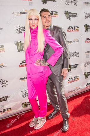 Jeffree Star arrives at the 2016 Journeys AP Music Awards at Value City Arena at the Jerome Schottenstein Center, in Columbus, Ohio