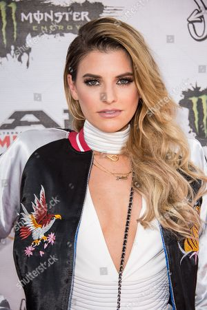 Juliet Simms arrives at the 2016 Journeys AP Music Awards at Value City Arena at the Jerome Schottenstein Center, in Columbus, Ohio