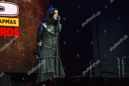 Twiggy Ramirez speaks at the 2016 Journeys AP Music Awards at Value City Arena at the Jerome Schottenstein Center, in Columbus, Ohio