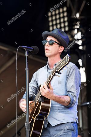 Pokey LaFarge seen during day two of Forecastle Music Festival at Waterfront Park, in Louisville, Ky