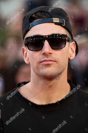 Stock Image of Jacob Hoggard of Hedley arrives at the 2016 iHeartRadio MuchMusic Video Awards, in Toronto, Canada