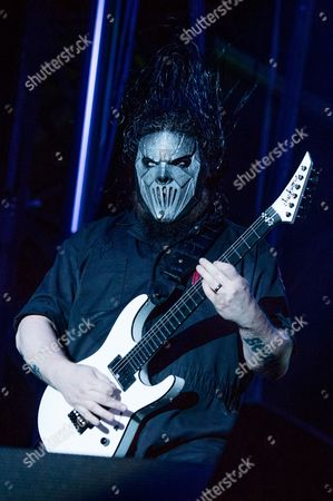 Mick Thomson of Slipknot performs at the Louder Than Life Festival, in Louisville, Ky