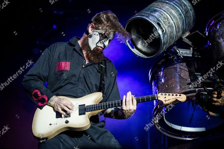 Jim Root of Slipknot performs at the Louder Than Life Festival, in Louisville, Ky