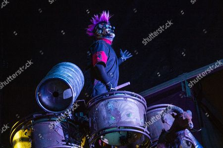 "Shawn ""Clown"" Crahan of Slipknot performs at the Louder Than Life Festival, in Louisville, Ky"