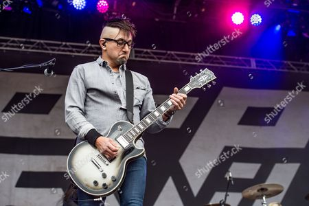 Dave Grahs of Pop Evil performs at the Louder Than Life Festival, in Louisville, Ky