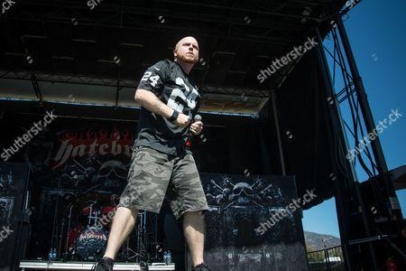 Jamey Jasta of Hatebreed performs during night one of Ozzfest meets Knotfest at San Manuel Amphitheater, in San Bernardino, Calif