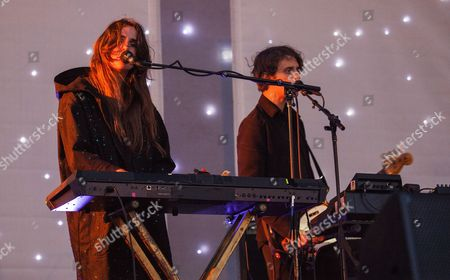 Victoria Legrand and Skyler Skjelset of Beach House seen at the 2016 Pitchfork Music Festival, on in Chicago