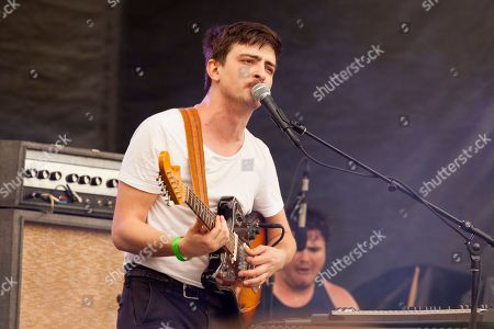 Colin Croom and Connor Brodner of Twin Peaks seen at the 2016 Pitchfork Music Festival, on in Chicago