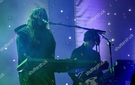Victoria Legrand and Skyler Skjelset of Beach House seen at the 2016 Pitchfork Music Festival, on in Chicago