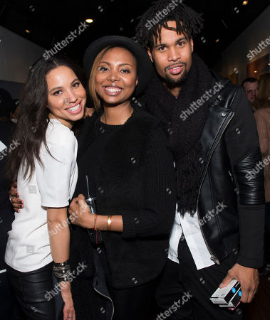 """Actress Jurnee Smollett-Bell, Executive Producer Misha Green and Josiah Bell seen during the """"Underground"""" party at the Vida Tequila Lounge during the 2016 Sundance Film Festival, in Park City, Utah"""