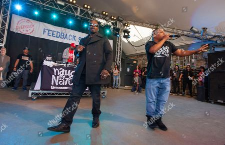 DJ Kay Gee, Treach and Vin Rock of Naughty by Nature perform at Rachael Ray's Feedback Party at Stubb's Bar-B-Que, during the South by Southwest Music Festival, in Austin, Texas