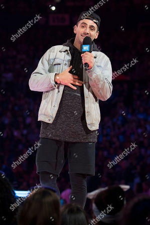 Stock Photo of Jacob Hoggard seen on stage at WE Day, in Toronto
