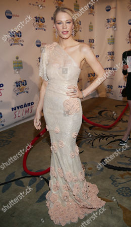 Cynthia Kirchner arrives at the 24th Night of 100 Stars Oscars Viewing Gala at The Beverly Hills Hotel on in Beverly Hills, Calif