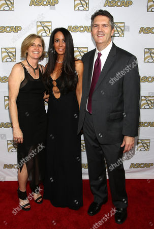 ASCAP Vice President, Membership - Pop/Rock Sue Drew, songwriter Antonina Armato and ASCAP EVP of Membership Randy Grimmett arrive at the 30th Annual ASCAP Pop Music Awards,, at Loews Hollywood Hotel in Hollywood, California