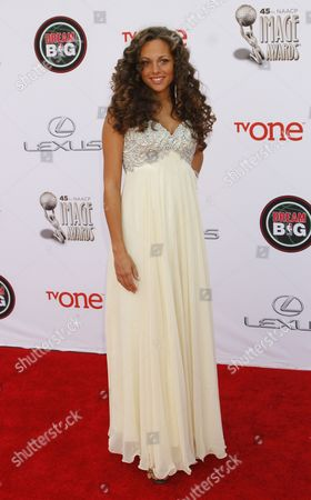 Stock Image of Shvona Lavette arrives at the 45th NAACP Image Awards at the Pasadena Civic Auditorium, in Pasadena, Calif
