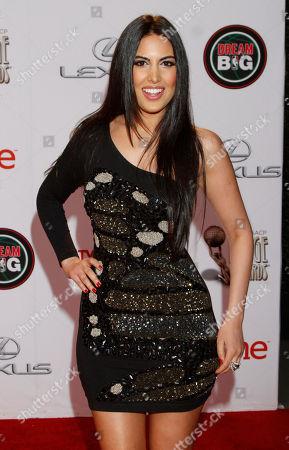 Stock Image of Estrella Nouri arrives at the 45th NAACP Image Awards at the Pasadena Civic Auditorium, in Pasadena, Calif