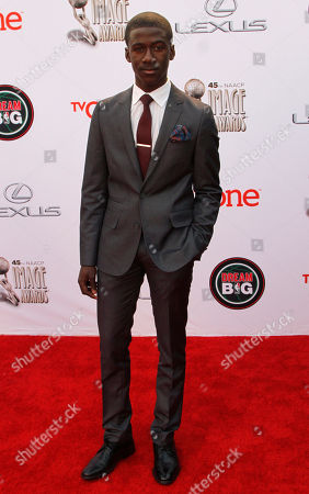 Kwesi Boakye arrives at the 45th NAACP Image Awards at the Pasadena Civic Auditorium, in Pasadena, Calif