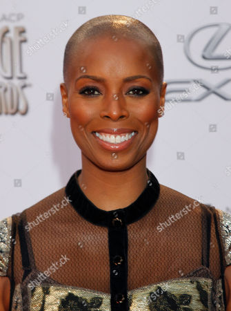 Sidra Smith arrives at the 45th NAACP Image Awards at the Pasadena Civic Auditorium, in Pasadena, Calif