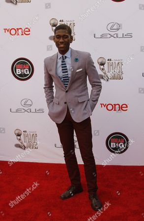 Kwame Boateng arrives at the 45th NAACP Image Awards at the Pasadena Civic Auditorium, in Pasadena, Calif