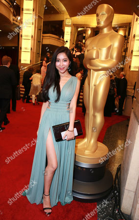 Betty Zhou arrives at the Oscars, at the Dolby Theatre in Los Angeles