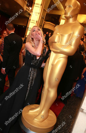 Janne Tyldum arrives at the Oscars, at the Dolby Theatre in Los Angeles
