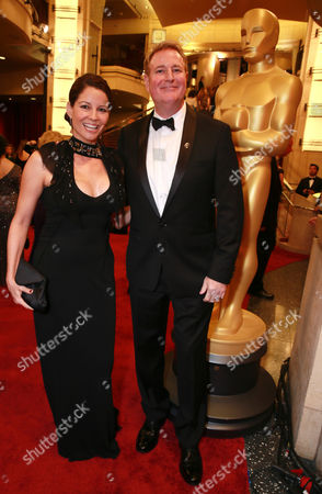 Alecia Spendlove, left, and Randy Spendlove arrives at the Oscars, at the Dolby Theatre in Los Angeles