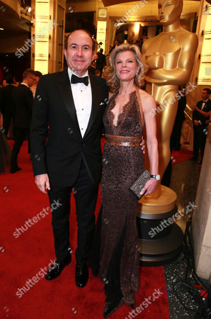 Philippe Dauman, Viacom President and Chief Executive Officer, left, and Debbie Dauman arrive at the Oscars, at the Dolby Theatre in Los Angeles