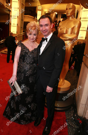 Deidre Lee, left, and Paul Lee, President of ABC Entertainment Group arrive at the Oscars, at the Dolby Theatre in Los Angeles