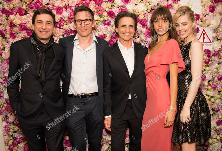 Jean-David Blanc, Michel Hazanavicius, Eva Doll, Lawrence Bender and Melissa George seen during the after party for the film A Tale of Love and Darkness at the 68th international film festival, Cannes, southern France