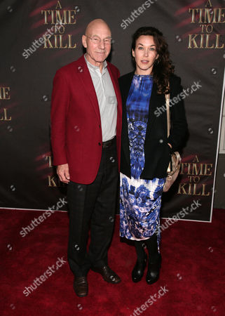 Actor Patrick Stewart, left and daughter Sophie Alexandra Stewart attend the opening night of 'A Time To Kill' on Broadway on in New York