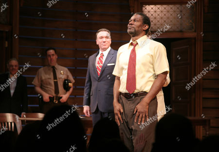 """Actor John Douglas Thompson appears onstage at the opening night of """"A Time To Kill"""" on Broadway on in New York"""