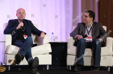Stock Image of Sam Toles, left, and Dylan Wiley attend the 2014 American Film Market (AFM) Distribution Conference at the Fairmont Hotel on Tuesday, Nov. 11, in Santa Monica, Calif