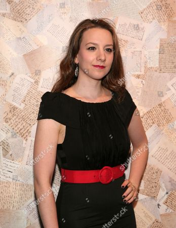 Figure skater Sarah Hughes attends the Alice and Olivia Spring 2014 presentation at Highline Stages on in New York