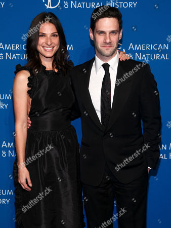 Stock Image of Lia Smith, left, and Justin Bartha, right, attend the American Museum of Natural History's Museum Gala, in New York
