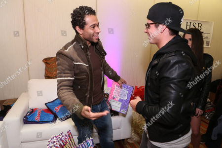 Actor Corbin Bleu, left, and actor/choreographer Beau 'Casper' Smart are seen at the American Music Awards KIIS FM Wonka NERDS Gifting Suite, on in Los Angeles