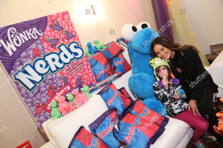 Bianca Wakelin, left, and actress Tia Carrere is seen at the American Music Awards KIIS FM Wonka NERDS Gifting Suite, on in Los Angeles