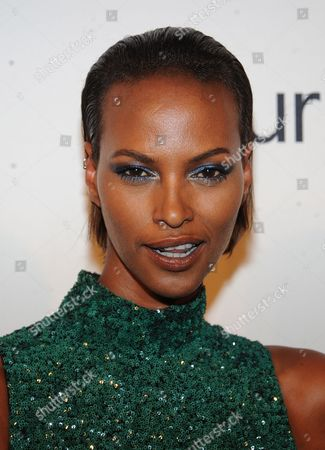 Yasmin Warsame attends the amfAR Inspiration Gala at the The Plaza Hotel on in New York