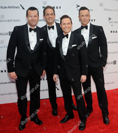Stock Photo of Phil Burton, Andrew Tierney, Michael Tierney, Toby Allen Music Group Human Nature attends the Apollo Theater Spring Gala and 80th Anniversary Celebration at the Apollo Theater on Monday, June, 10, 2014 in New York City