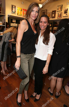Tricia Helfer, left, and Milissa Skoro are seen at Kiehl's Earth Day party hosted by Ashley Judd & Anthony Mackie on in Santa Monica, Calif